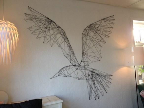 decoracao parede passaro linhas pregos faca voce mesmo diy decoracao criativa
