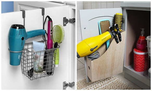 ideias aproveitamento atras da porta armarios banheiro pequeno guardar secador chapinha babyliss