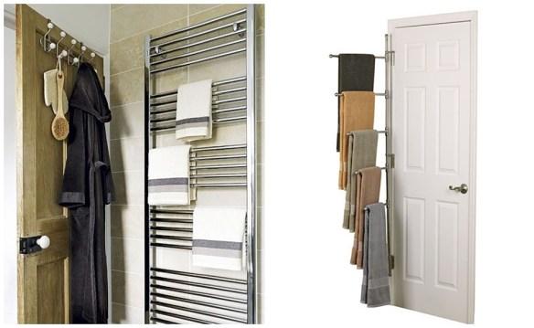 porta toalhas atras da porta banheiro pequeno toalheiro ideias espacos reduzidos 2
