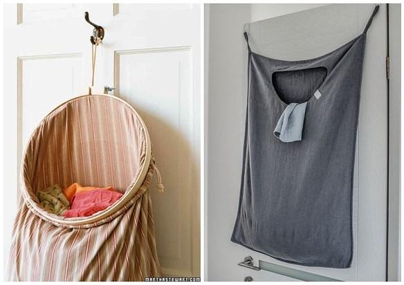 saco roupa suja atras da porta ideias pequenos espacos organizacao