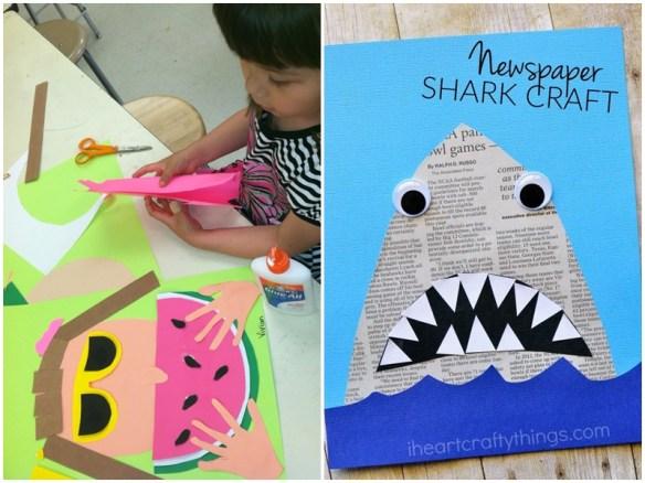 atividade artes criancas recortes simples colagem desenhos faceis