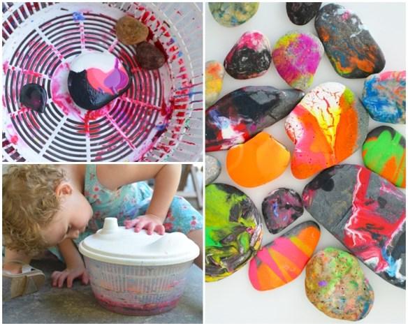 atividades artes divertidas para fazer com criancas pintura projetos criativos pedras decoradas