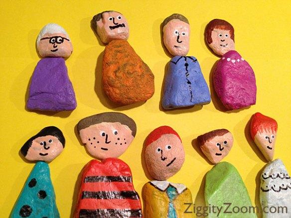 atividades criancas ideias criativas pedras familia