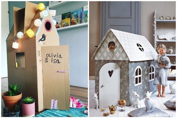 brinquedos de papelão casinha faca voce mesmo diy