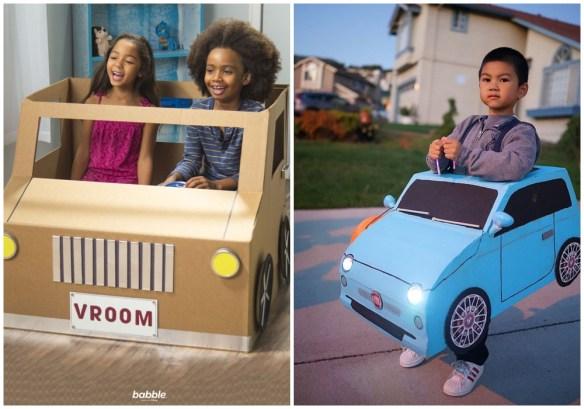 carro papelao criancas entrar caixa papelao construções criativas