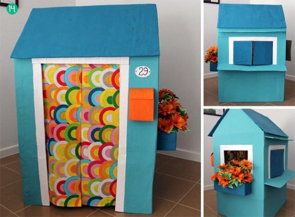 casinha de papelao construcoes criativas casa de brincar