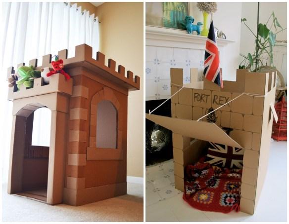 castelo forte papelao ideias criativas faca voce mesmo diy construções com papelão