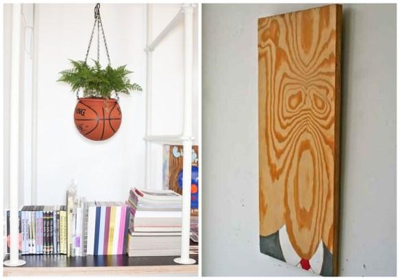 decoracao criativa divertida ideias vaso suspenso quadro