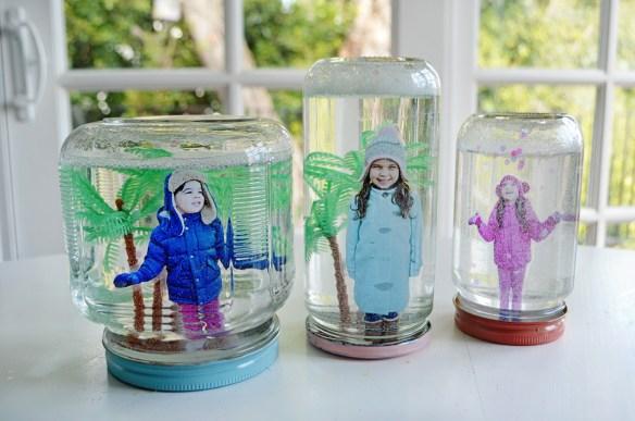 globo de neve faca voce mesmo diy fotos criancas projetos com fotos crafts photos kids snow globe