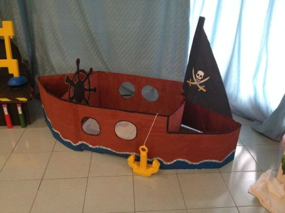 navio pirata papelao faca voce mesmo diy