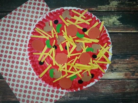 projetos manuais artes faceis para criancas prato de papel pizza