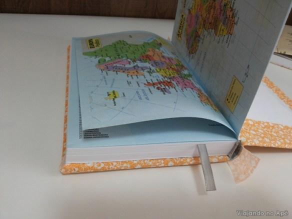 encapando livro com tecido e papel decorado impresso 5