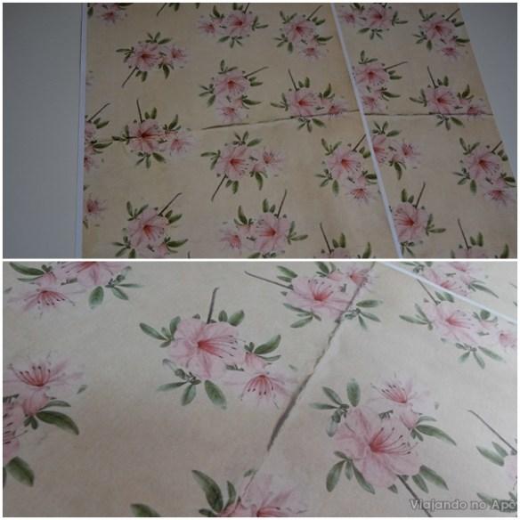 encapando livro com tecido e papel decorado impresso 8