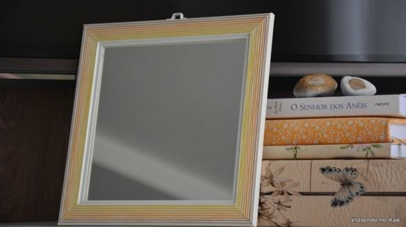 decoraçao moldura espelho linhas