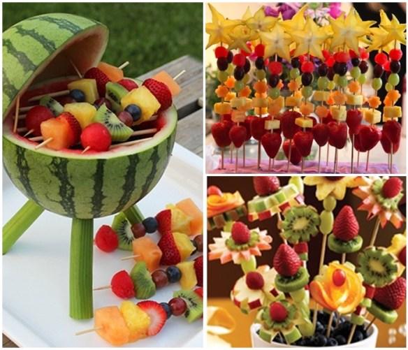 espetinhos de frutas verao