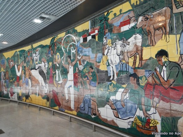Mural arte Aeroporto Internacional do Recife Guararapes