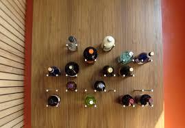 suporte garrafas deitadas diy parede