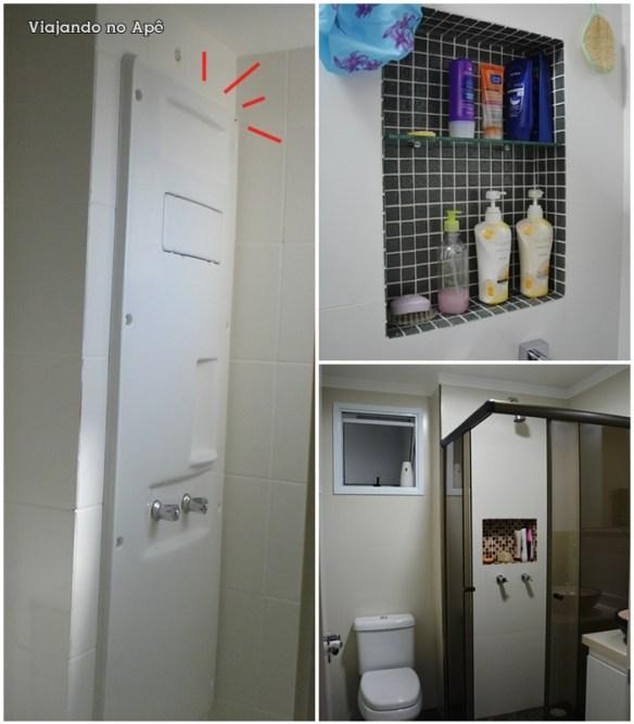Dica para esconder shaft do banheiro!