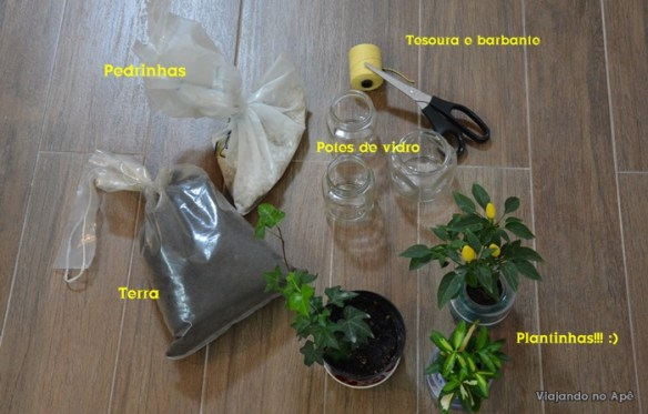 plantas suspensas materiais