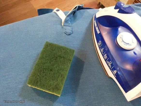 esponja tirar fiapo pelos de roupa