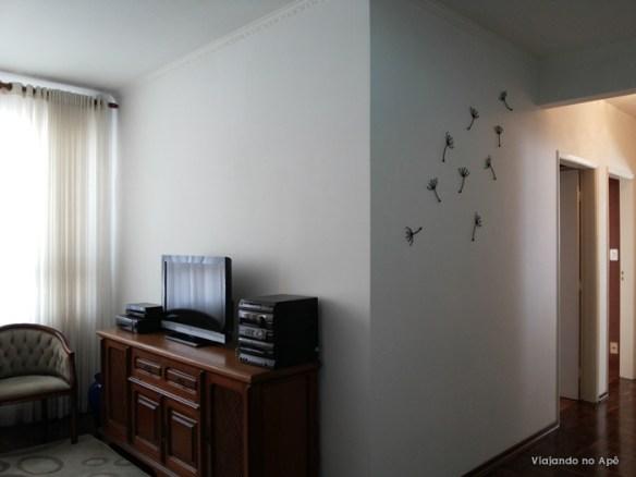 parede decorada sala dente de leao