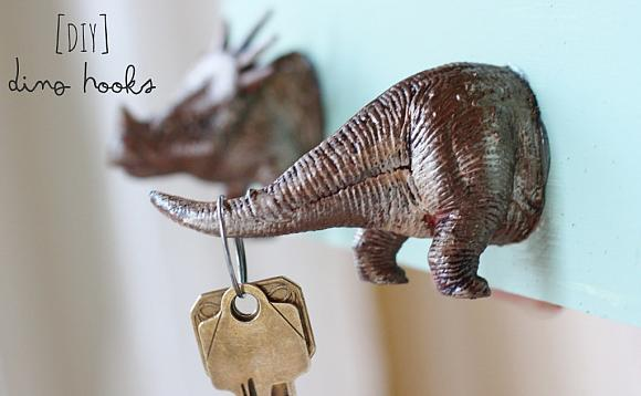 DIY dinossauro porta chaves