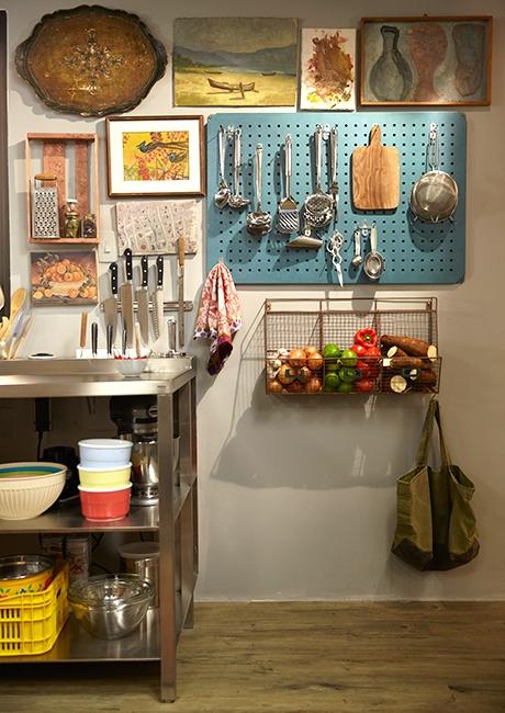 utensilios cozinha parede cozinha decorada cesto aramado parede painel utensilios