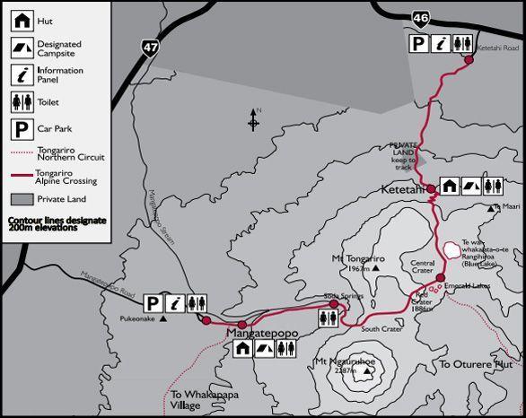mapa tongariro 2