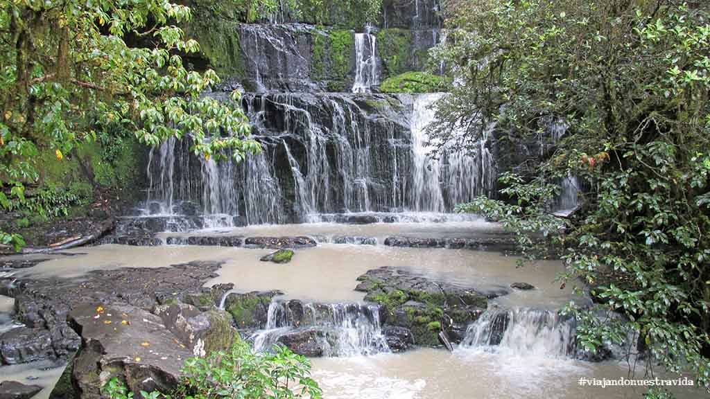 purakaunui falls the Catlins