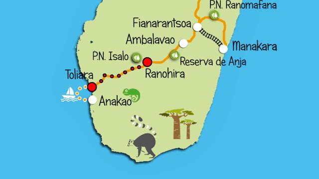 Mapa recorrido del día