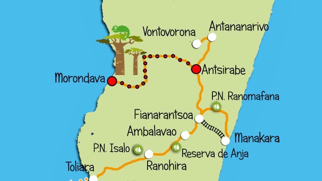 MAPA RUTA MADAGASCAR