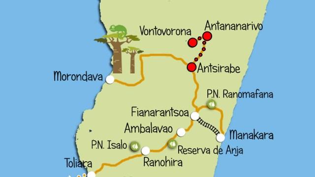 mapa vontovorona