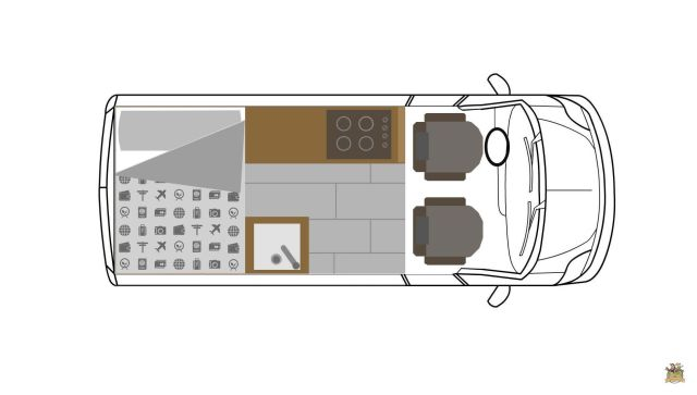 mesa para furgoneta