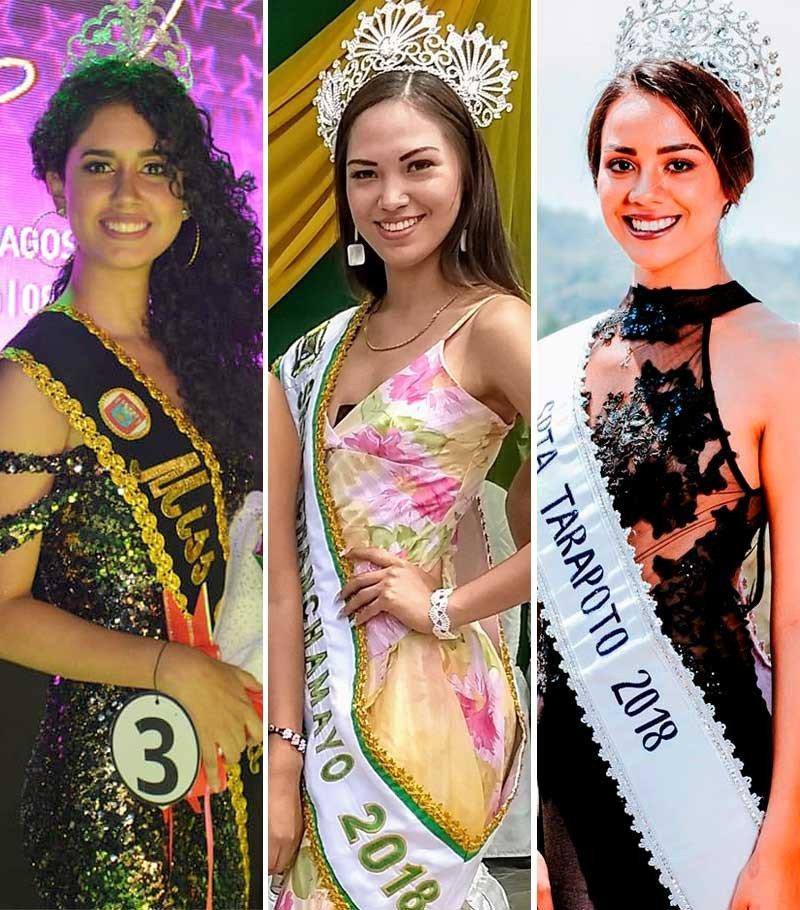 Estas fueron las Reinas y Señoritas del 2018 en todo el Perú