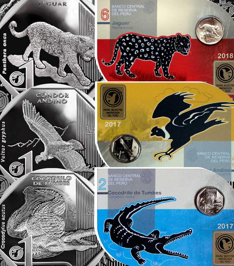 """Monedas """"Fauna Silvestre Amenazada del Perú"""" ¿Ya tienes tu colección?"""