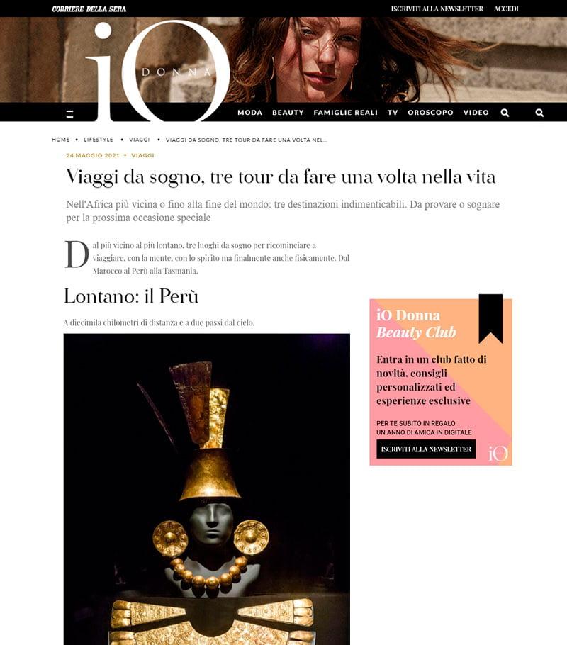 Revista italiana califica a Perú como un destino de ensueño