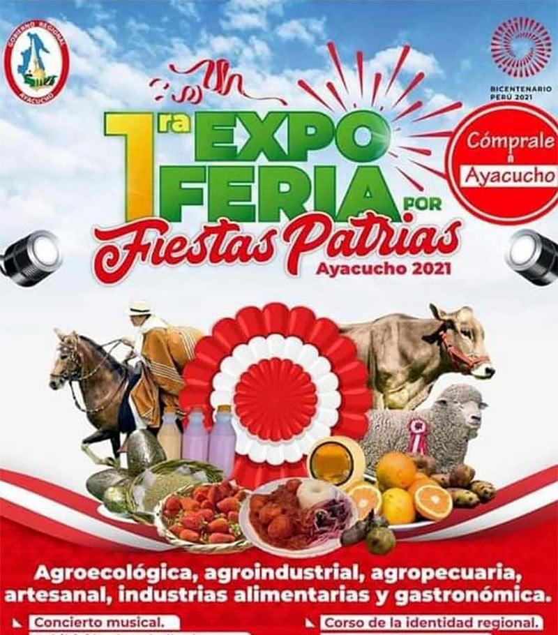Danzas, gastronomía y música en Expoferia por Fiestas Patrias 2021 en Ayacucho