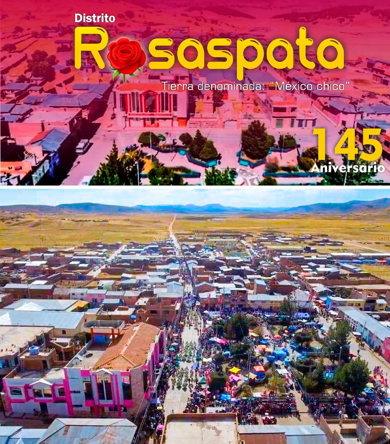 Puno: Programa del 145 aniversario del distrito de Rosaspata