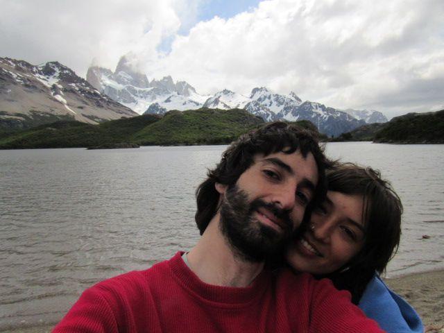 Juan y Carol en Cerro Chaltén o Fitz Roy.