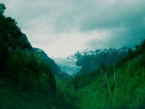 Gaciar llegando a La Junta. Carretera austral chilena