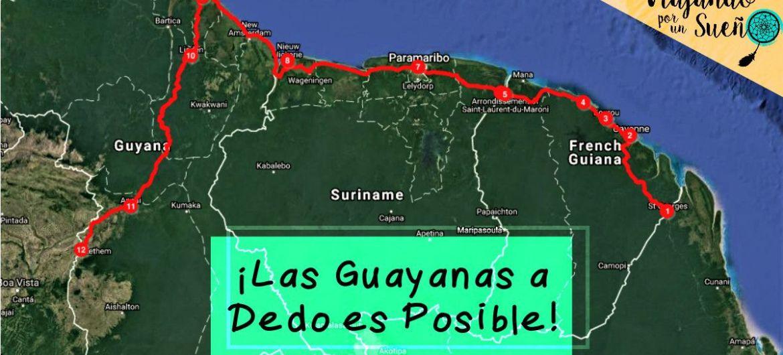 Recorrido Guayanas dedo
