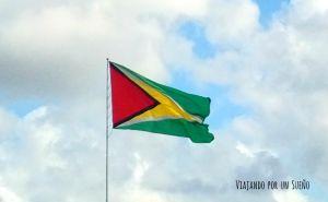 Bandera Guyana Viajando por un Sueño