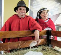 Hielero e hija Quito alrededores viajando por un sueño