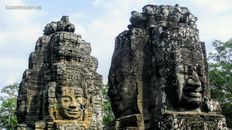 BAyón caras Camboya angkor viajandoporunsuenyo