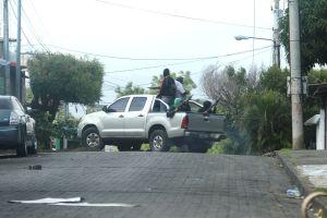 - Una camioneta con civiles armados. Oscar Sánchez/END www.elnuevodiario.com.ni-