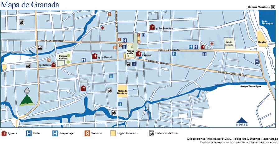 Mapa Granada ciudad vx1s
