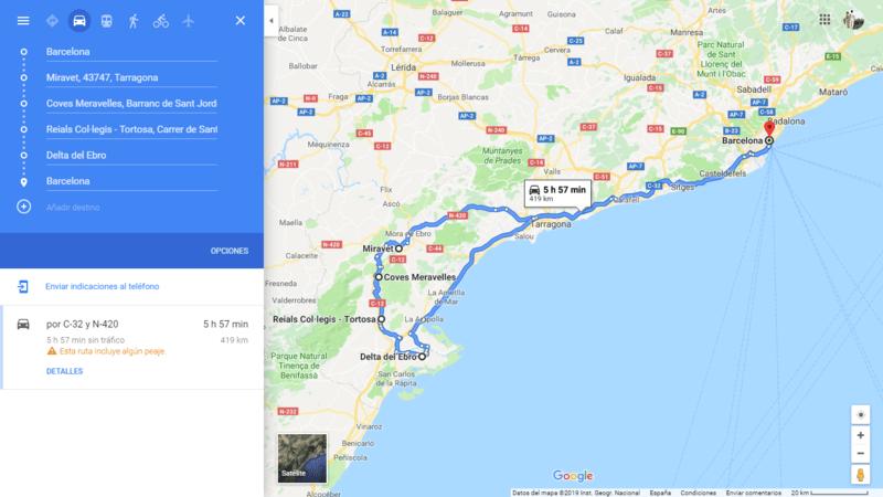 ruta 07 Barcelona coche viajando por un sueño