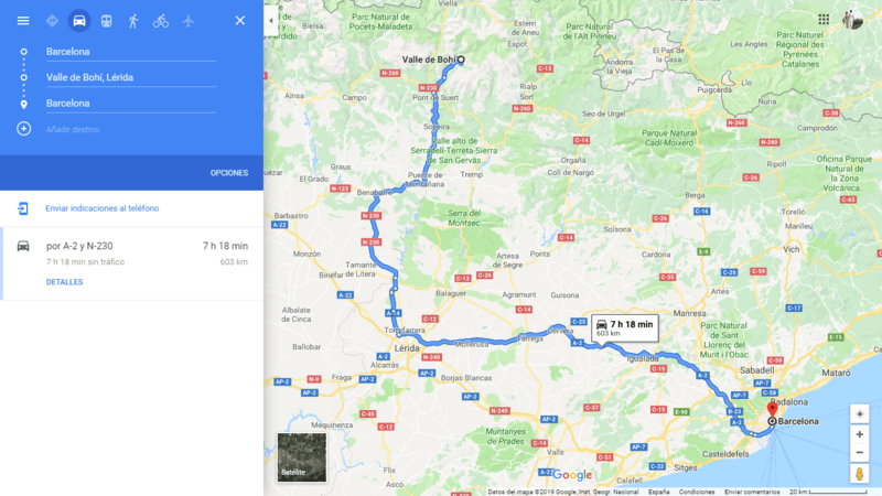 ruta 09 Barcelona coche viajando por un sueño