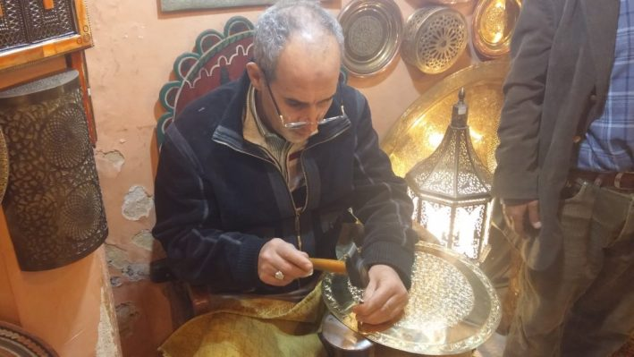 Artesanato marroquino, Marrocos, Fez, comerciante árabe