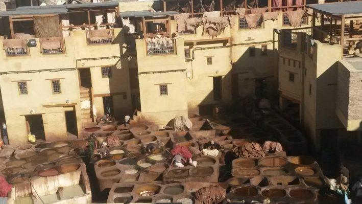 Curtume, Fez, Marrocos, couro marroquino, África